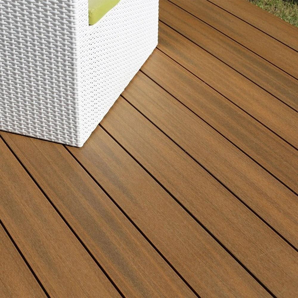planche composite luxia so garden teck l 240 x l 14 5 cm x ep 22 mm
