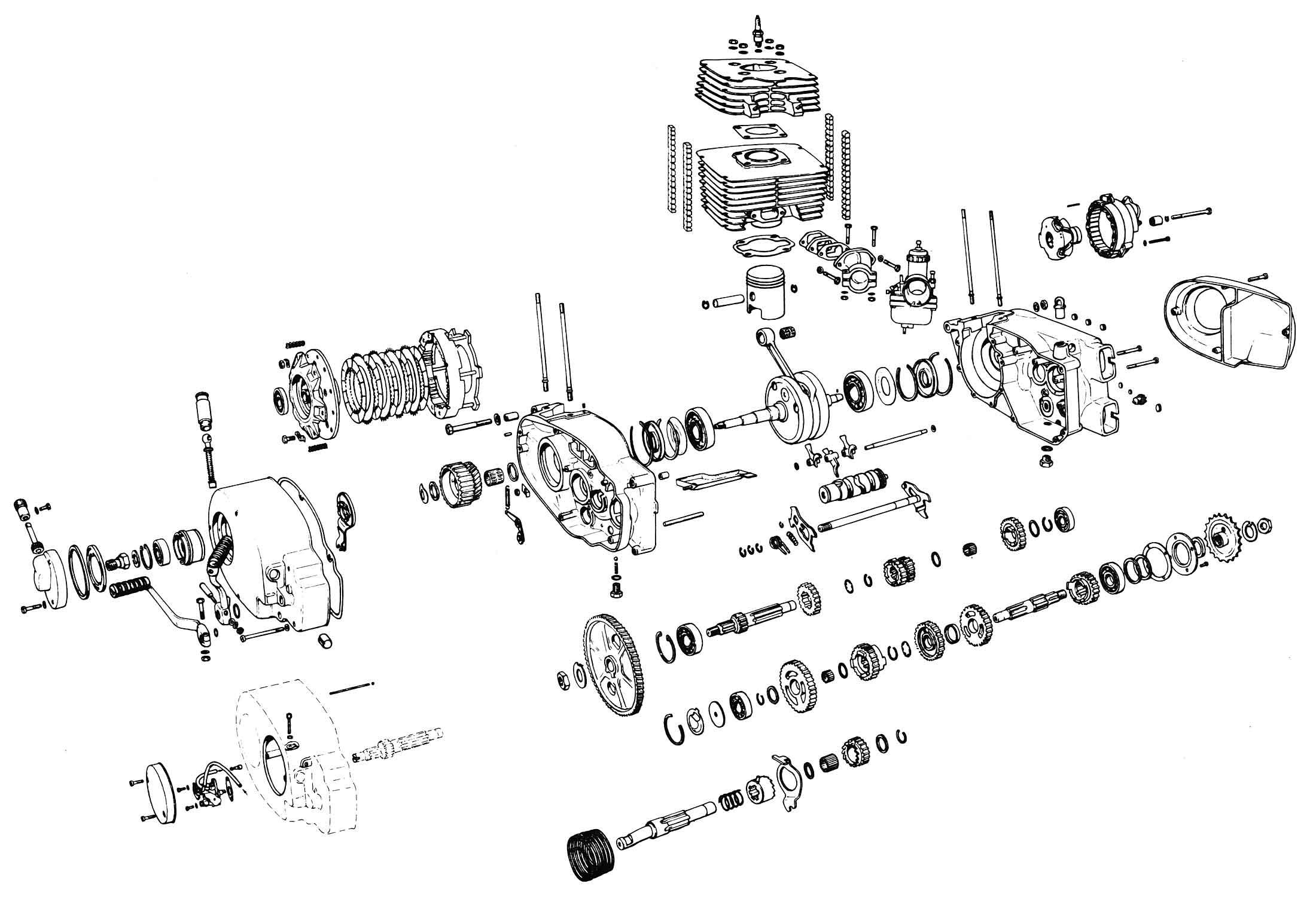 Schemat Silnika ETZ 250/251 :: Mz ETZ