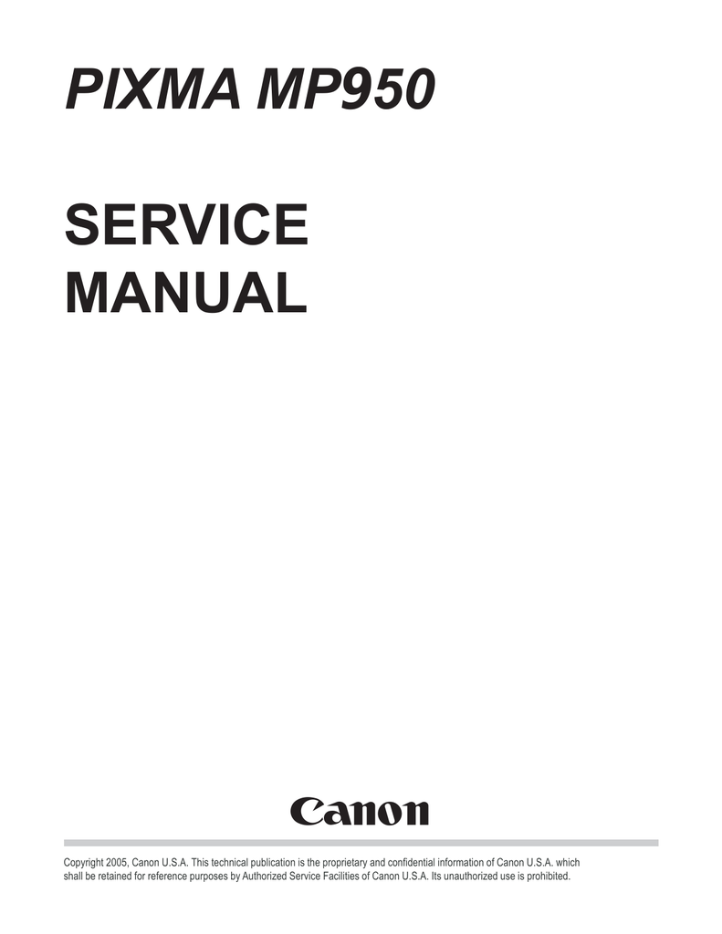 CANON MP950 MANUAL PDF