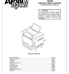 apw wyott m 2000 service manual [ 791 x 1024 Pixel ]