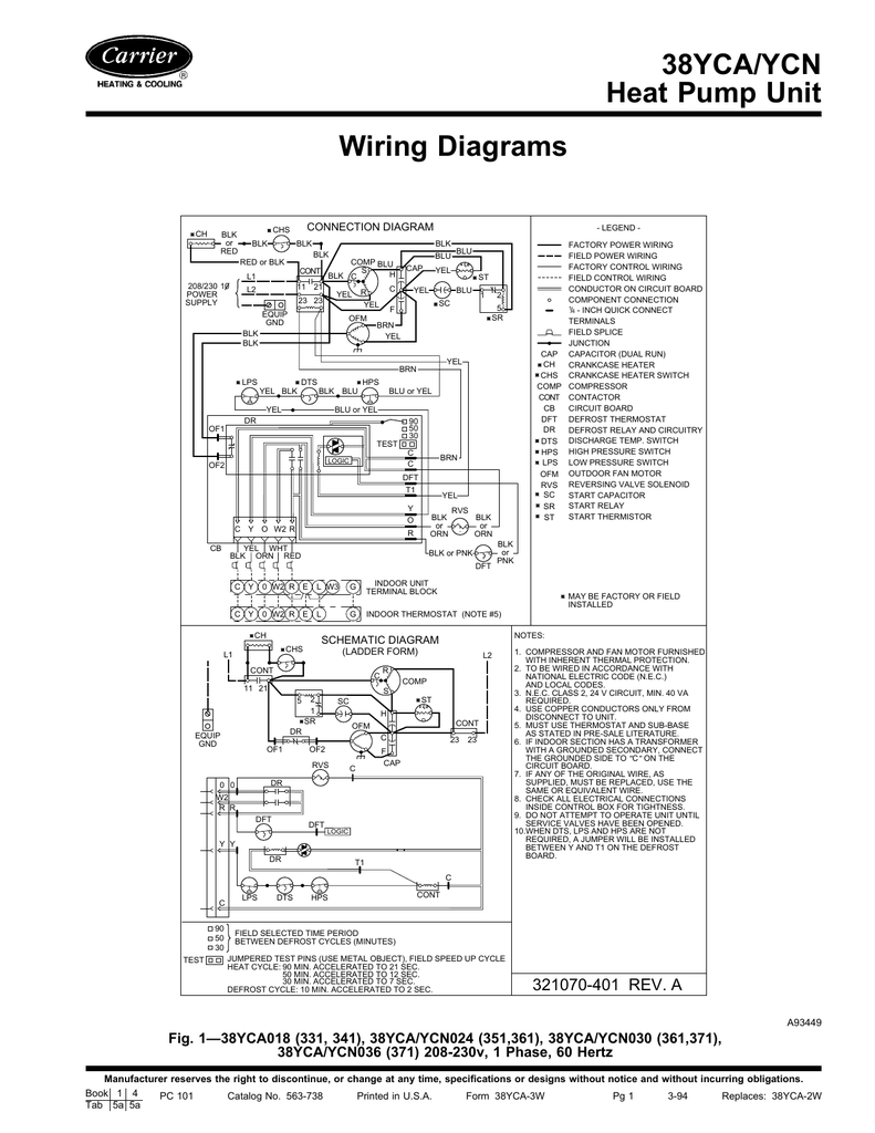 hight resolution of 38yca ycn heat pump unit wiring diagrams