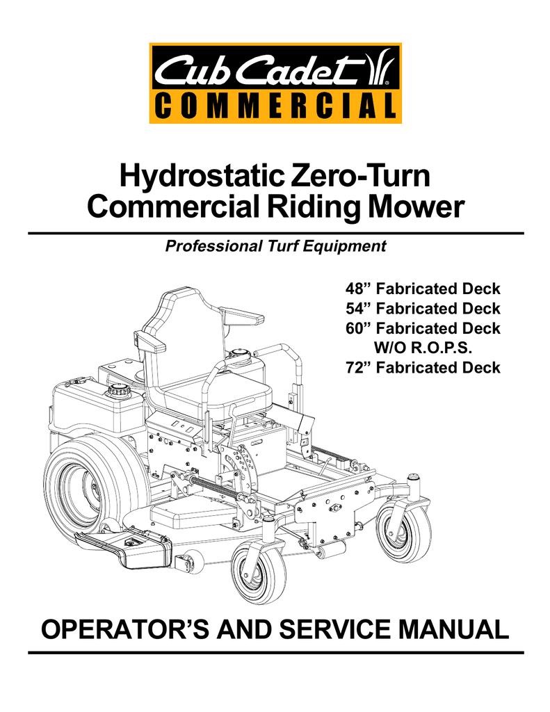 medium resolution of cub cadet tank m48 service manual