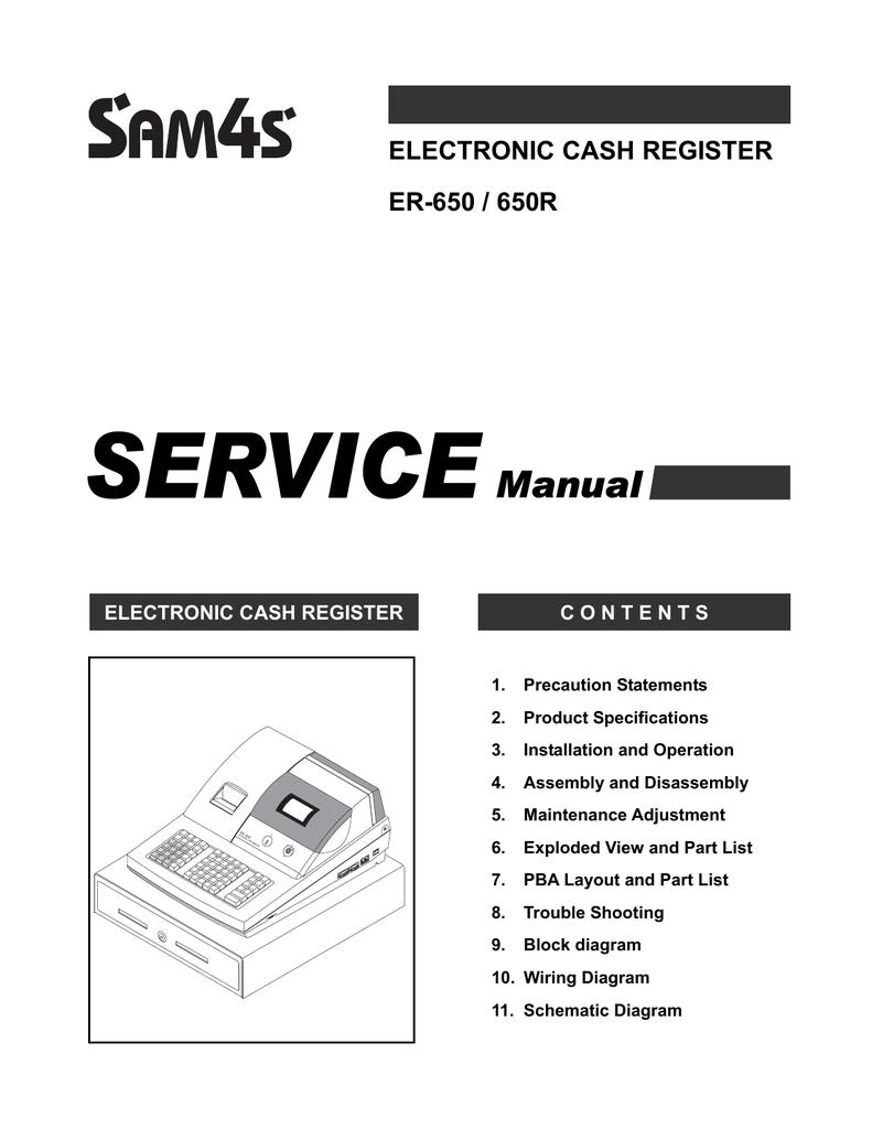 Er 650 electronic cash register manual