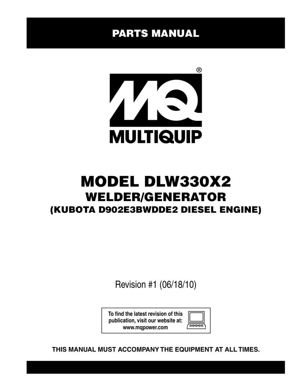 medium resolution of dlw330x2 rev 1 parts multiquip service support center