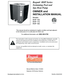 raypak rhp160 installation manual [ 786 x 1024 Pixel ]