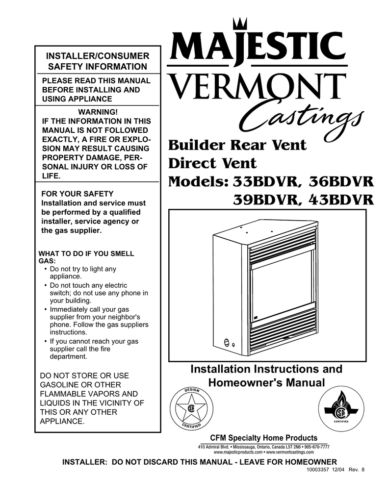 medium resolution of vermont castings 43ldvr operating instructions