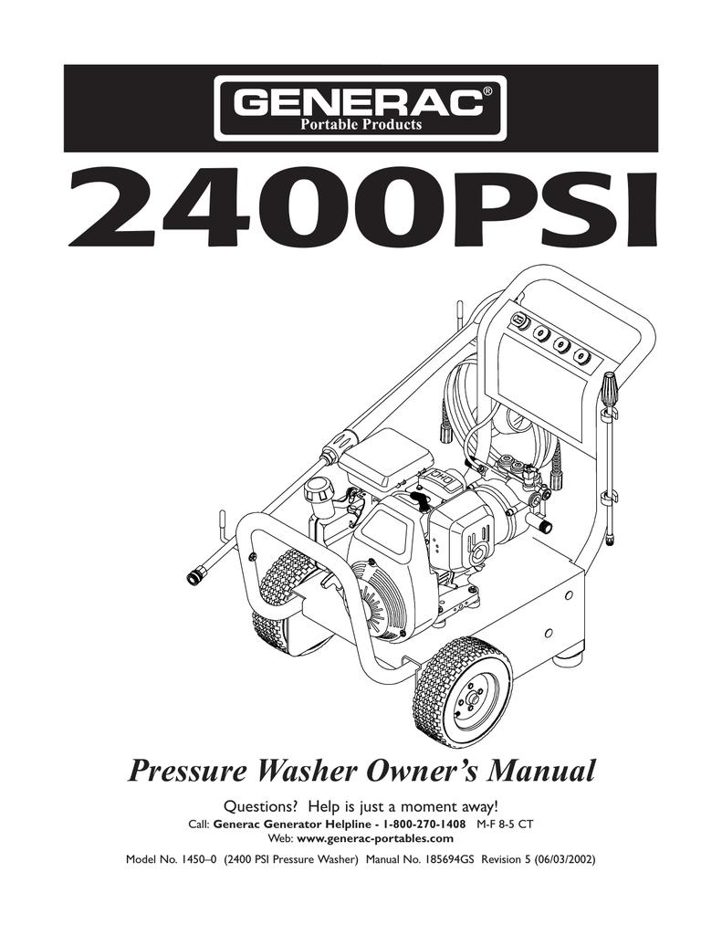 Craftsman 2400 Psi Pressure Washer Pump Parts