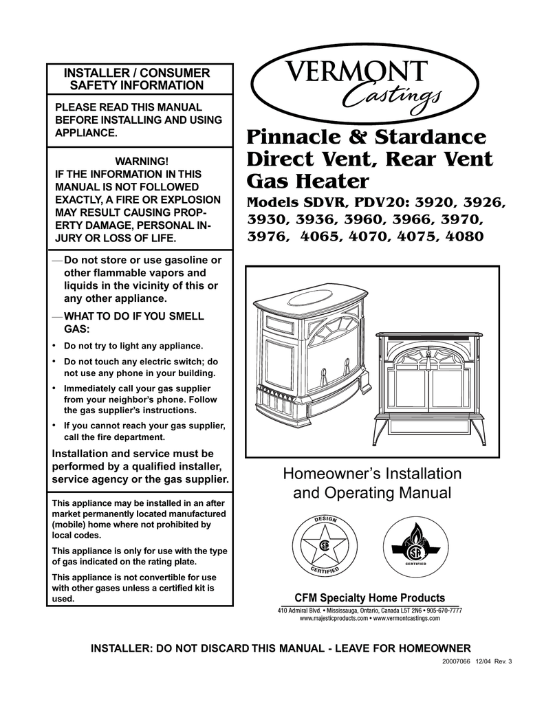 medium resolution of vermont castings 3966 operating instructions