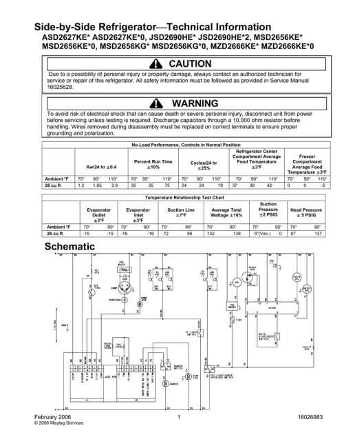small resolution of maytag msd2656kes 26 cu ft refrigerator technical information