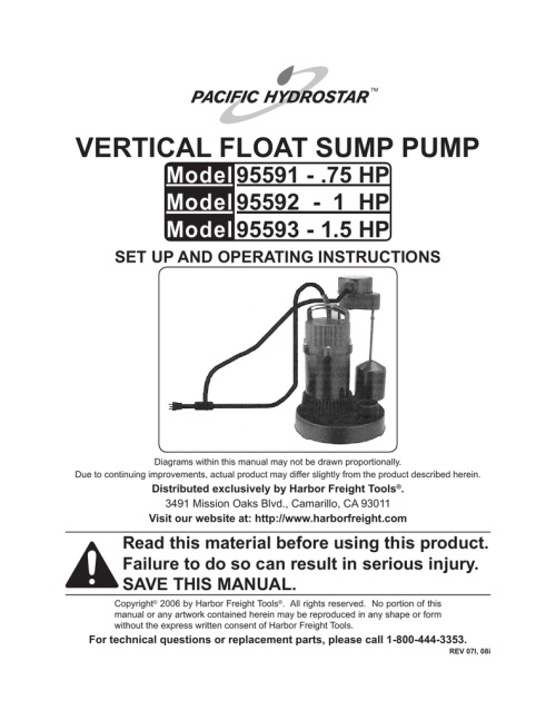 small resolution of chicago electric 95593 1 5 hp operating instructions