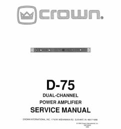 crown d 75a service manual [ 793 x 1024 Pixel ]