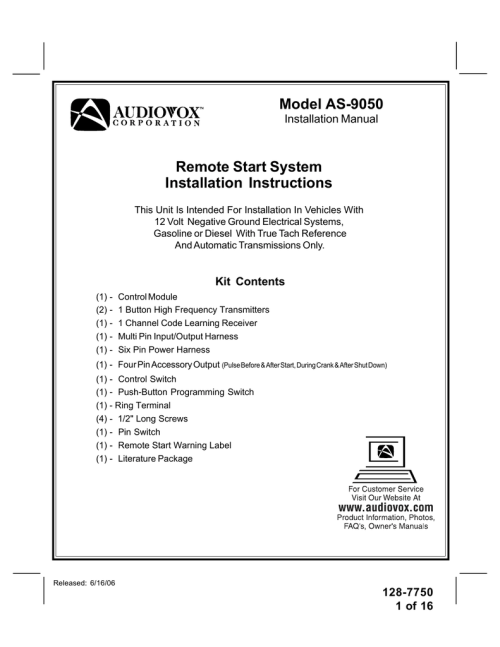 small resolution of  ready remote on audiovox as 9050 installation manual manualzz com on