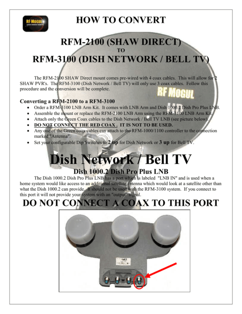 small resolution of rfm 3100 dish network bell tv