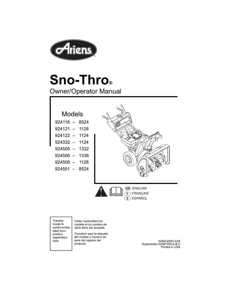 medium resolution of  ariens 924121 1128 specifications manualzz com on ariens snow king ariens ax