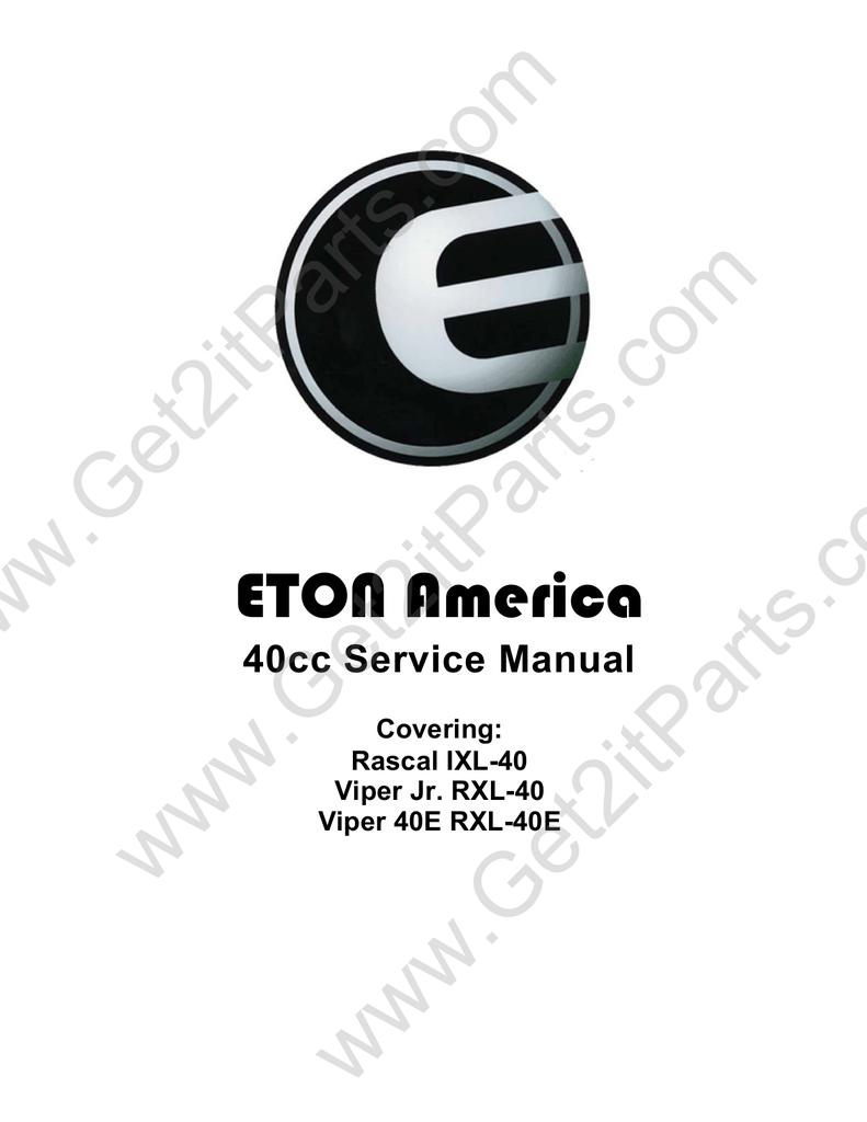 medium resolution of e ton viper 40e rxl 40e service manual manualzz cometon viper jr 40cc ignition