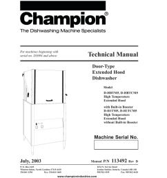 champion industries d h1t troubleshooting guide manualzz com champion dish machine wiring diagram [ 791 x 1024 Pixel ]