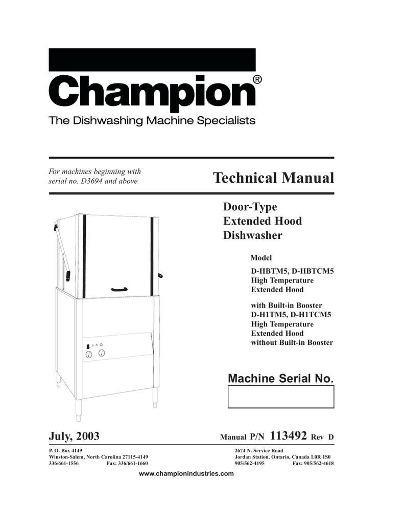 medium resolution of champion industries d h1t troubleshooting guide manualzz com champion dish machine wiring diagram