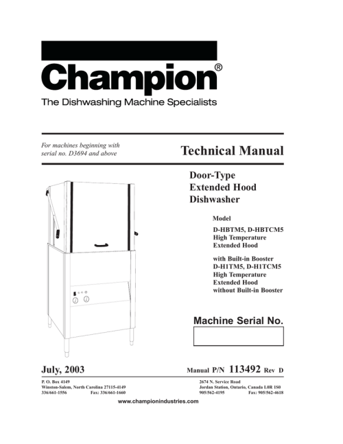 small resolution of champion industries d h1t troubleshooting guide manualzz com champion dish machine wiring diagram