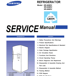 samsung sr 608ev service manual refrigerator  [ 791 x 1024 Pixel ]