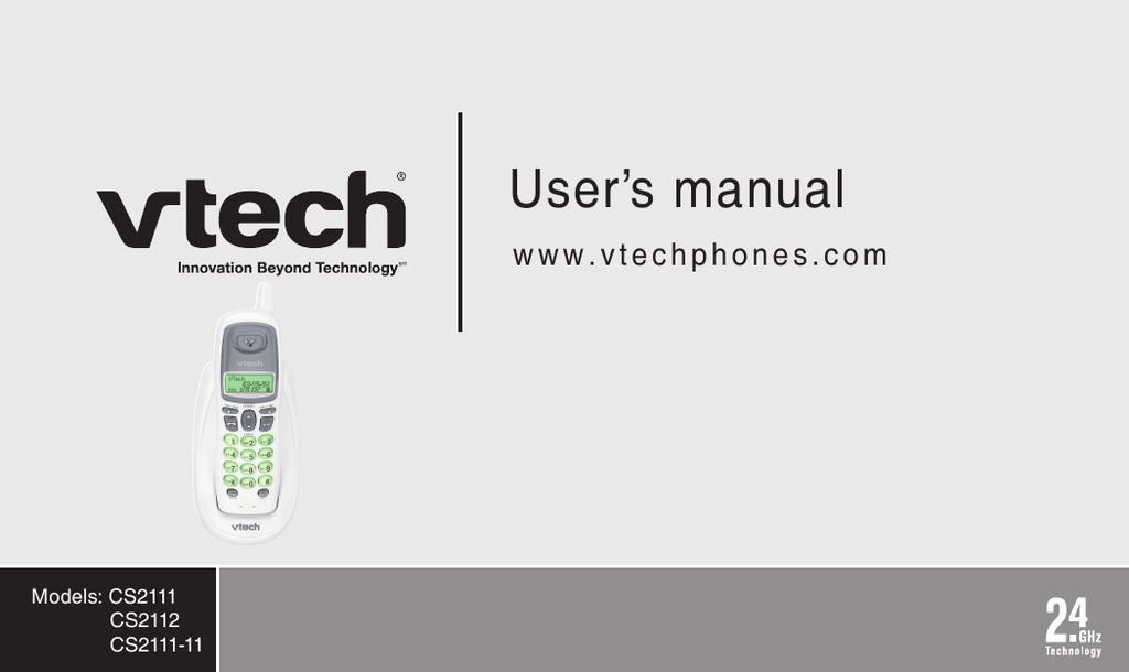 Bestseller: Vtech Cs5111 2 Manual