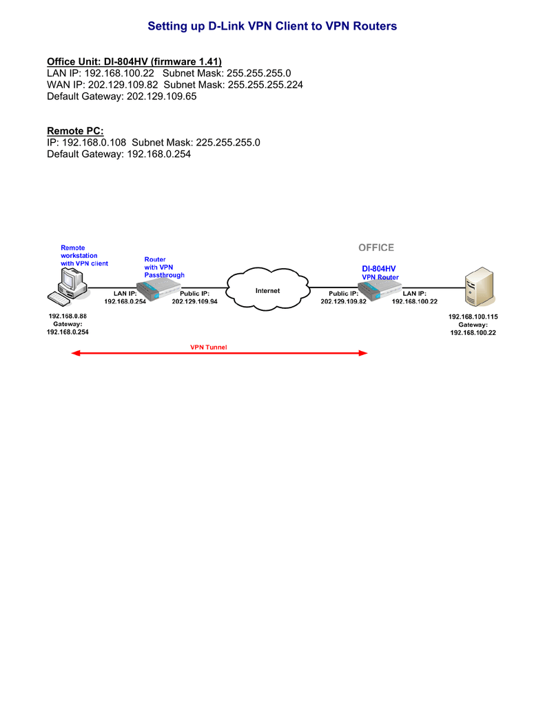 medium resolution of setting up d link vpn client to vpn routers d