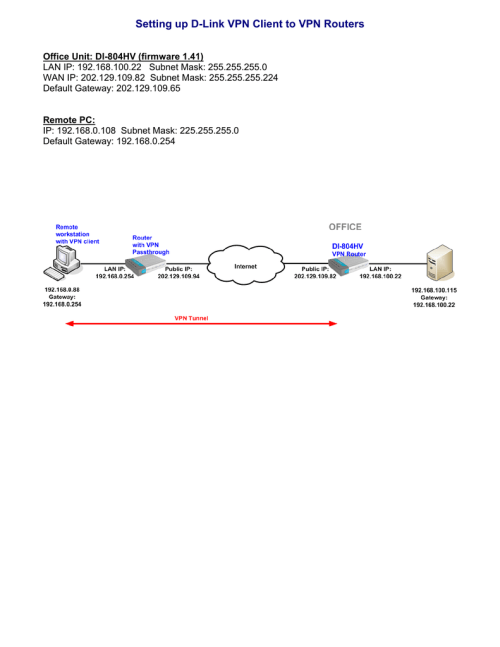 small resolution of setting up d link vpn client to vpn routers d