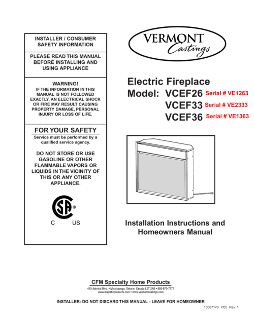 small resolution of vermont castings vcef36 operating instructions