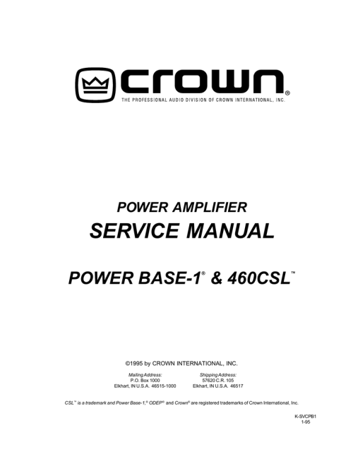 small resolution of crown power base 1 service manual