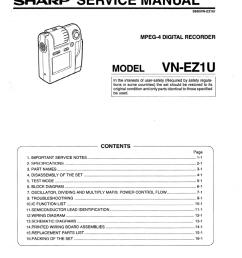 sharp vn ez1u service manual [ 799 x 1024 Pixel ]