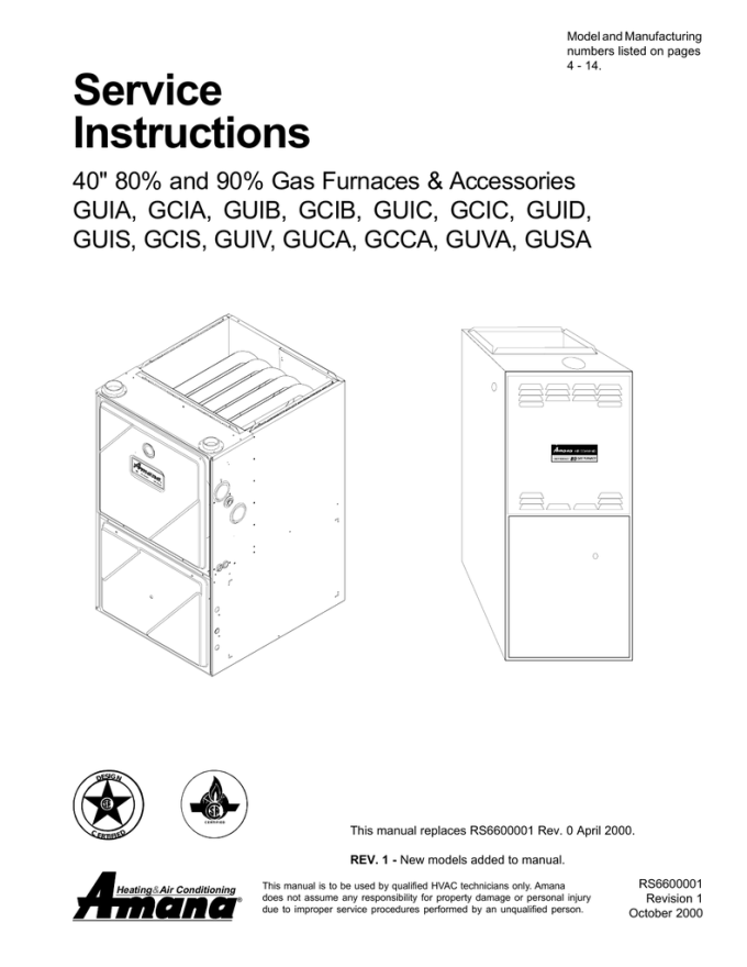 Amana Heater Air Conditioner Wall Unit Manual