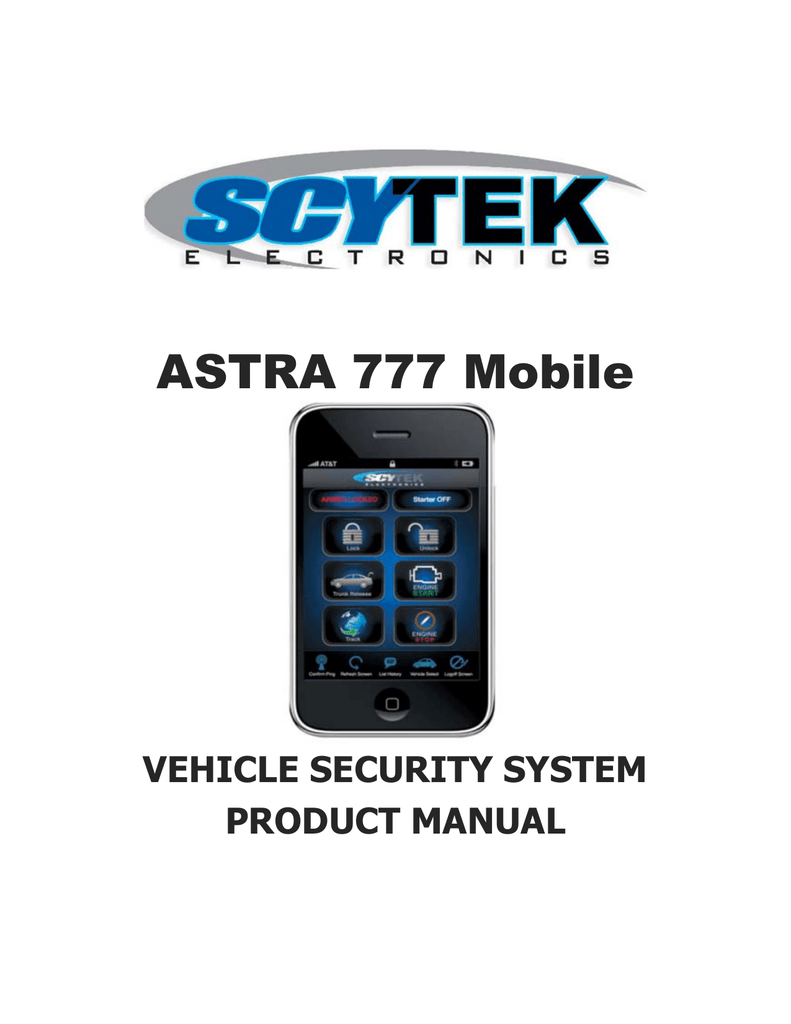 hight resolution of scytek electronic astra 777 mobile product manual astra 777 mobile vehicle security