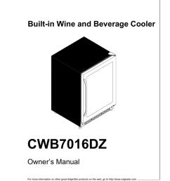 edgestar cwb7016dz owner s manual [ 791 x 1024 Pixel ]