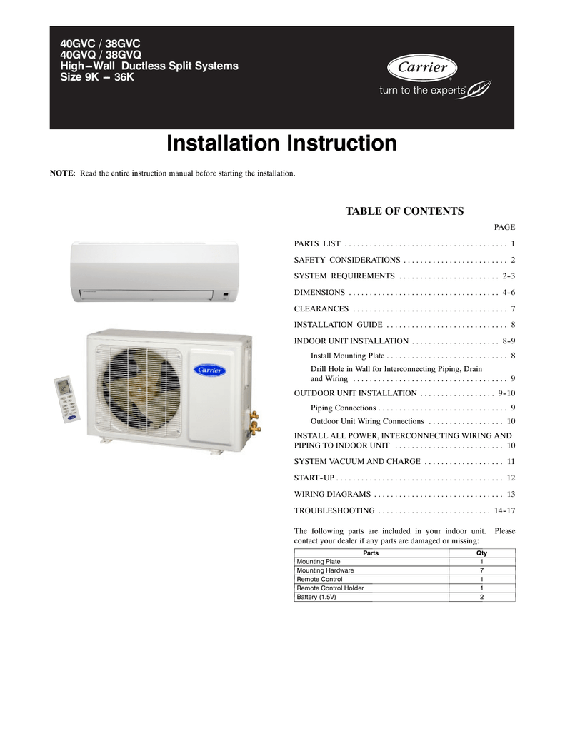 hight resolution of carrier 38gvq instruction manual