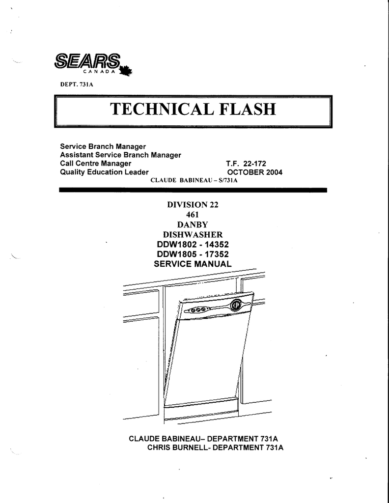 hight resolution of danby ddw1802 service manual