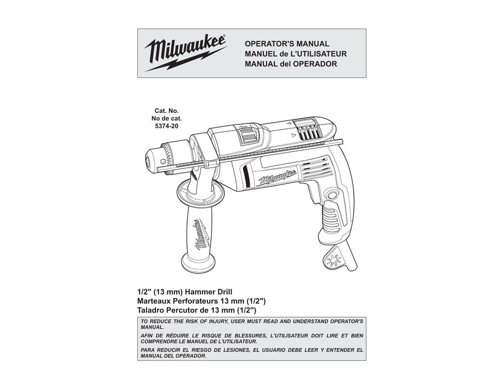 hight resolution of milwaukee 5374 20 operator s manual