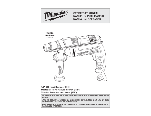 small resolution of milwaukee 5374 20 operator s manual