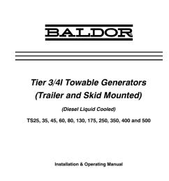 baldor ts35 owner s manual [ 770 x 1024 Pixel ]
