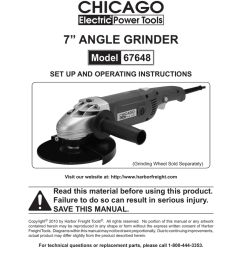 chicago electric 67648 operating instructions 7 angle grinder  [ 791 x 1024 Pixel ]