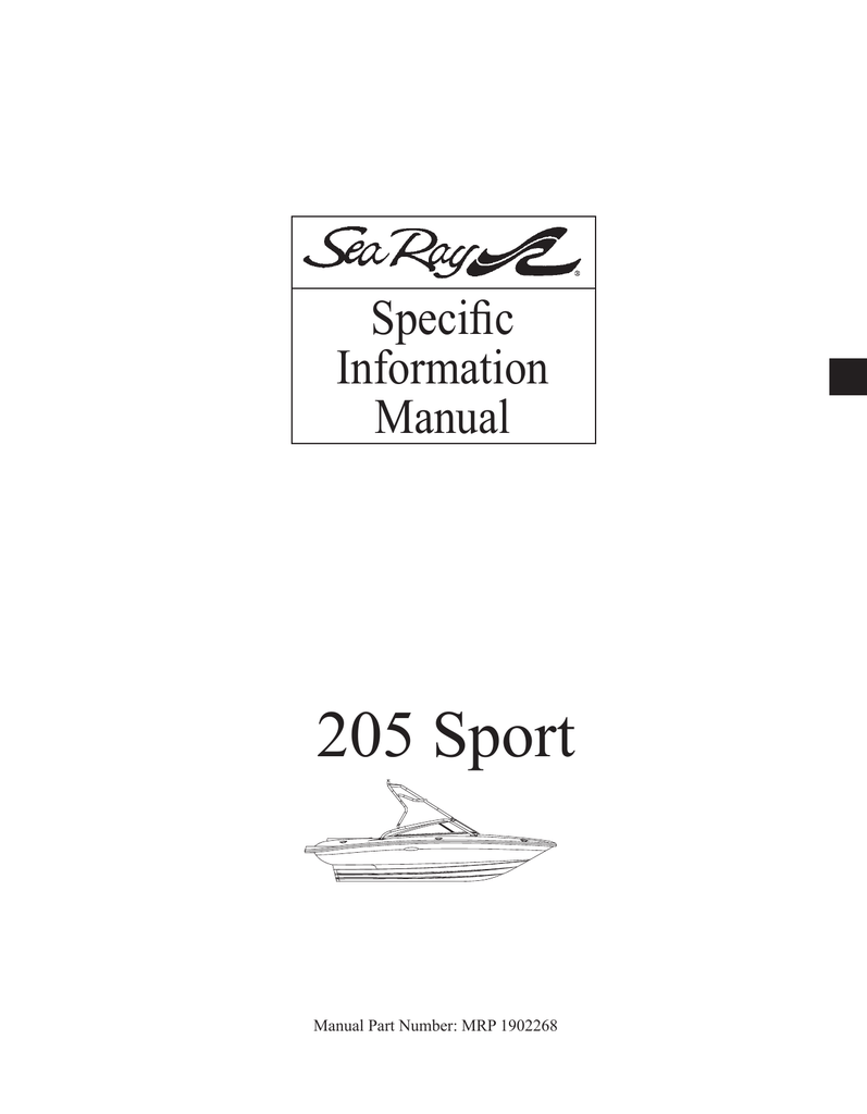 hight resolution of sea ray 205 sport 2008 owners manual rnr