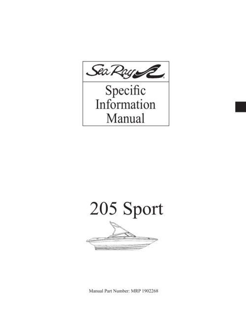 small resolution of sea ray 205 sport 2008 owners manual rnr