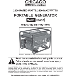 chicago electric 98452 operating instructions [ 791 x 1024 Pixel ]