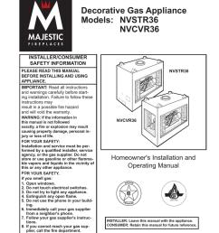 majestic fireplaces cvr36 operating instructions [ 791 x 1024 Pixel ]
