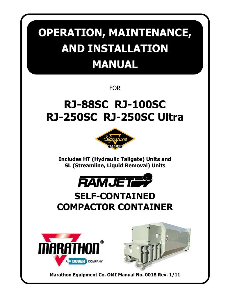Marathon Trash Compactor Wiring Diagrams Trash Compactor