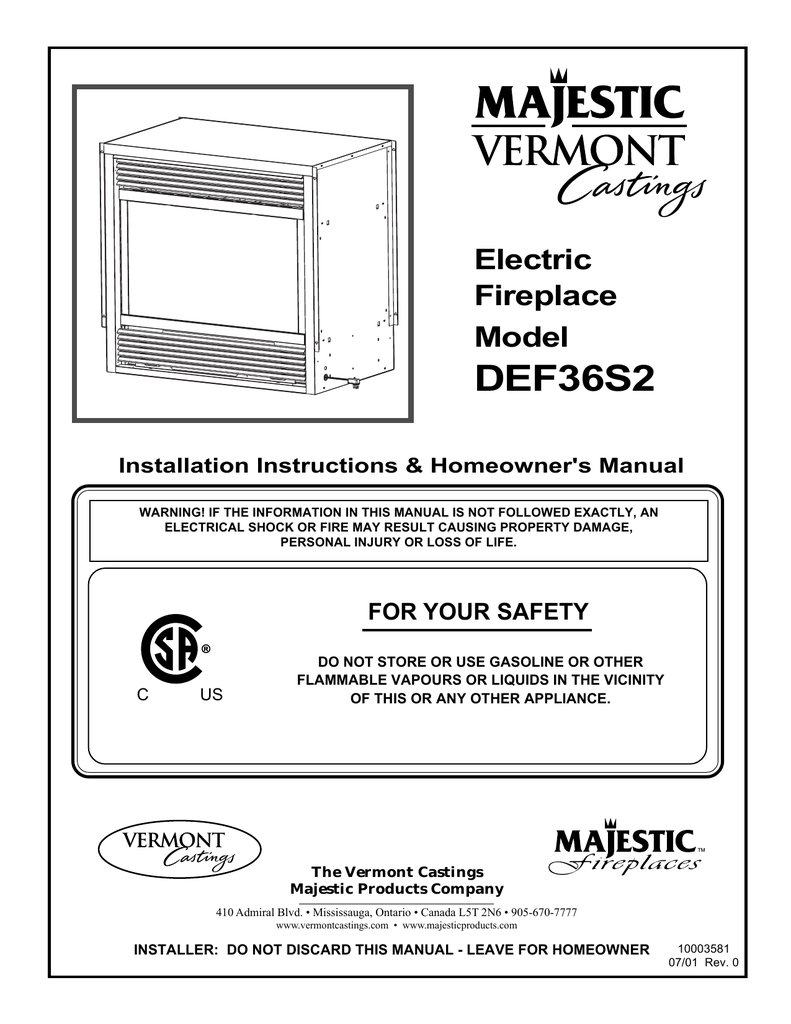 medium resolution of vermont castings def33 operating instructions