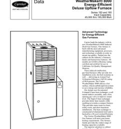 carrier weathermaker 8000 58wav product data [ 791 x 1024 Pixel ]