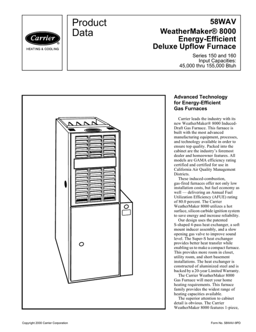 small resolution of carrier weathermaker 8000 58wav product data