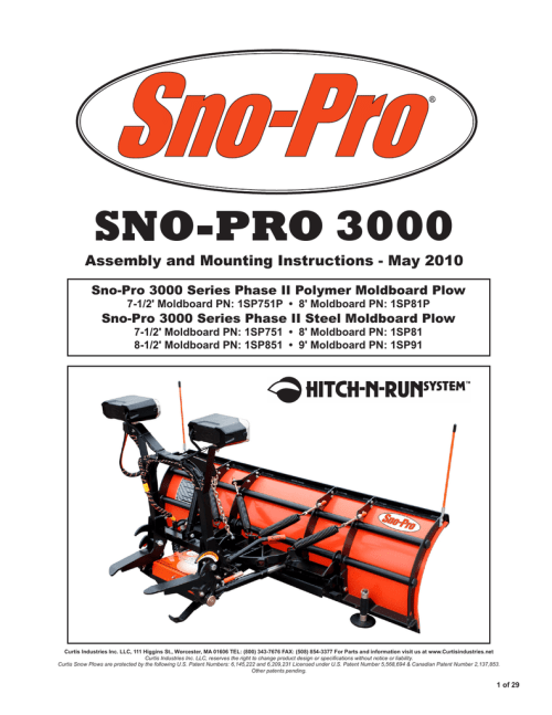 small resolution of curtis 3000 specifications sno pro