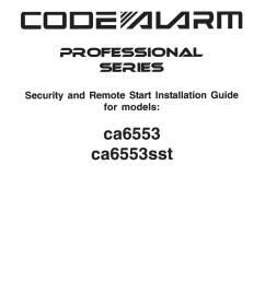 code alarm ca6553 installation guide [ 791 x 1024 Pixel ]
