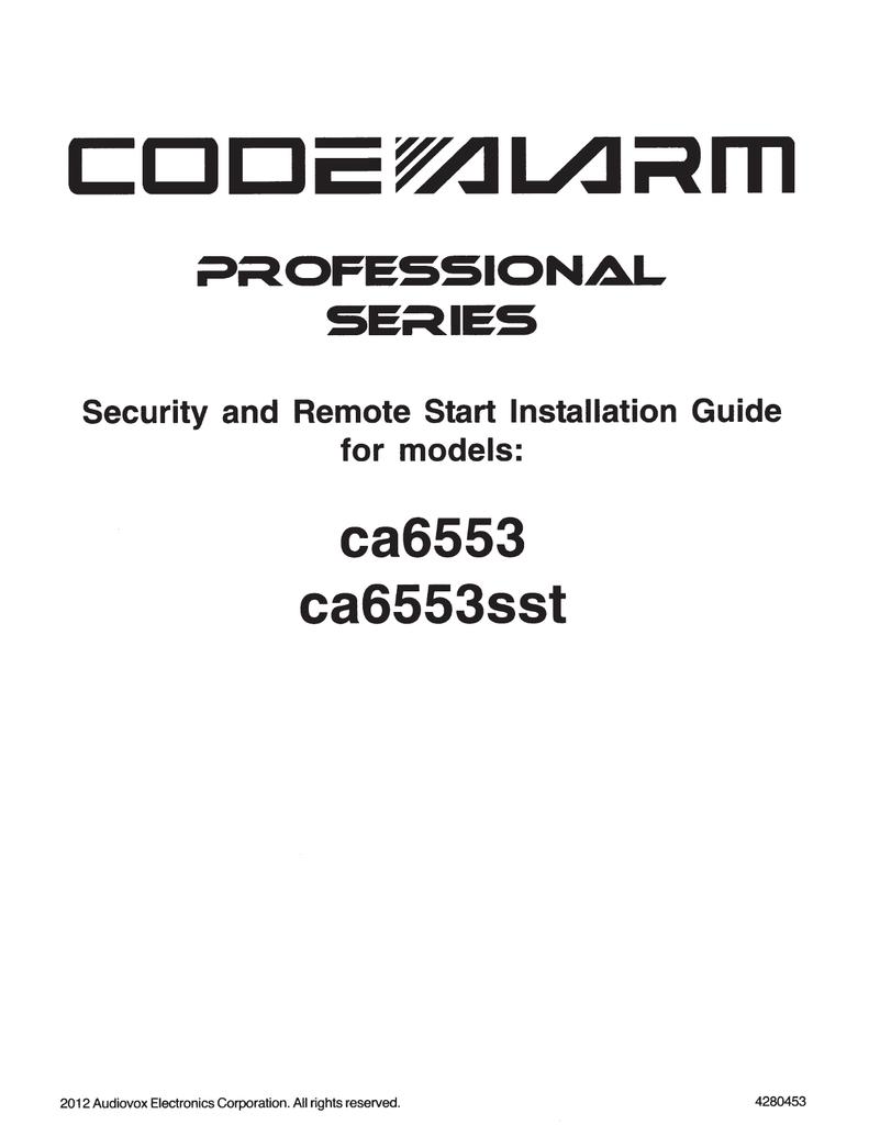 medium resolution of code alarm ca6553 installation guide