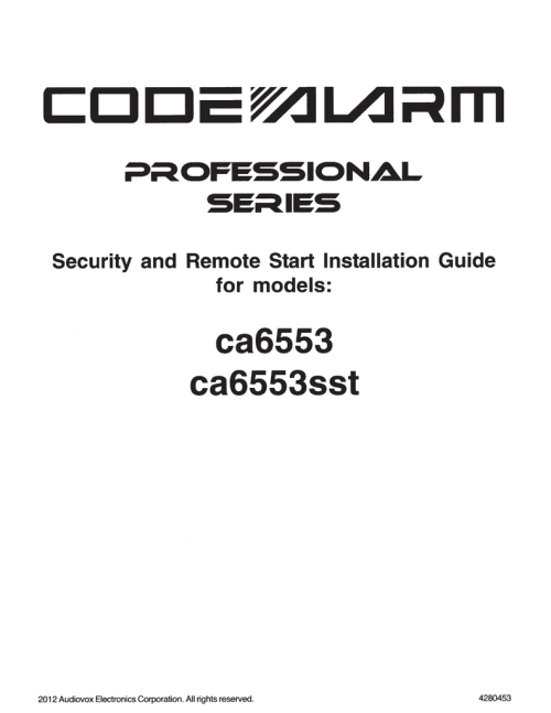 small resolution of code alarm ca6553 installation guide